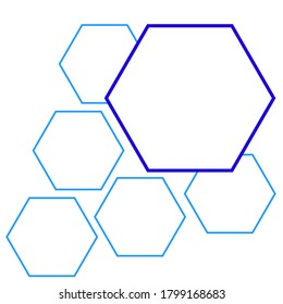 hexagon vector, vector shapes, Set of hexagon vector empty frames. Vector templates for landing web page, presentation, digital content. Space for text or photo or image. Simple design