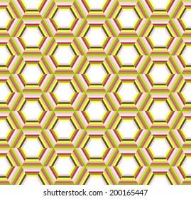 Hexagonal abstract seamless pattern