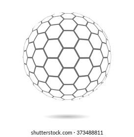 Hexagonal abstract vector background. Seamless mosaic pattern.