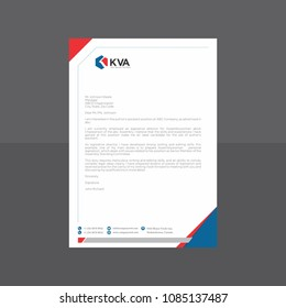 Hexagonal blue and red Letterhead