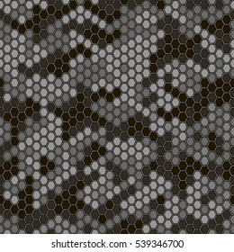 Hexagonal camouflage  on a gray background.