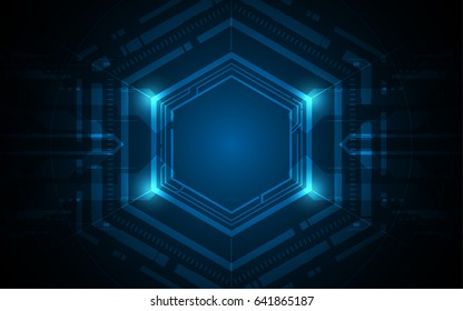 hexagonal futuristic sci fi pattern.