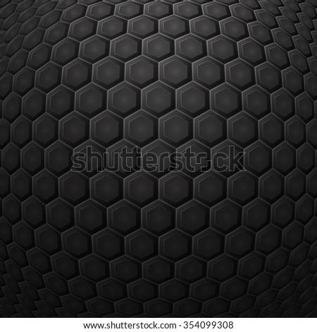 Hexagonal Grid Background Vector Illustration Stock Vector