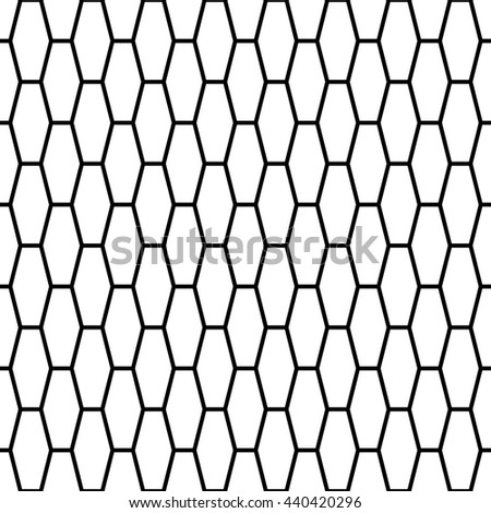 Hexagonal Grid Design Vector Seamless Pattern Stock Vector Royalty