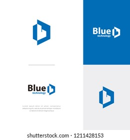 hexagonal Letter B logo vector, technology icon