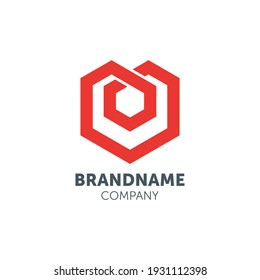 hexagonal logo design with geometry
