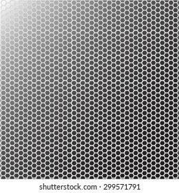 Hexagonal mesh vector pattern illustration for design.