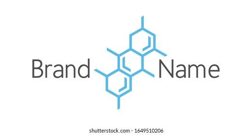 Hexagonal Molecule Concept, Molecular Structure Chemical Formula Logo Design Vector