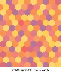 A hexagonal pattern vector background