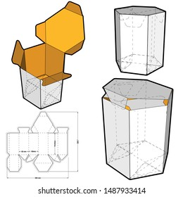 Hexagonal self asembly (Internal measurement 9 x 11.8cm) and Die-cut Pattern