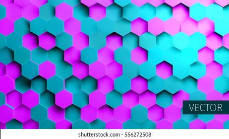Hexagonal vector background. Toxic backdrop. Technology impression. Minimal pattern