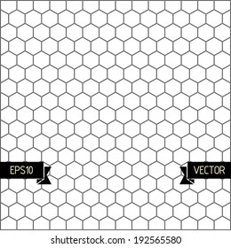 Hexagons geometric pattern. Vector illustration