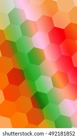 hexagons on a multi color background. geometric banner with gradient. vector. ideas for your business presentations, printing, design.