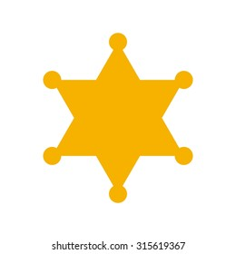 hexagram sheriff star badge. justice logo.