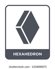 hexahedron icon vector on white background, hexahedron trendy filled icons from Geometry collection, hexahedron simple element illustration