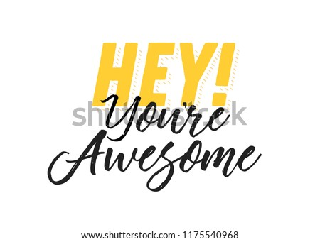 you are awesome message