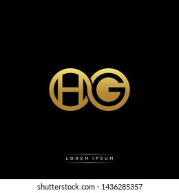 HG initial letter linked circle capital monogram logo modern template
