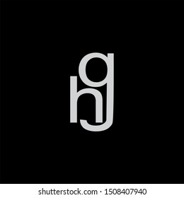 HG Letter monogram with abstrac concept style design