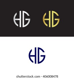 HG rounded initials