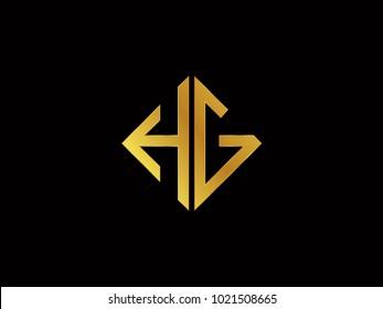 HG square shape gold color logo