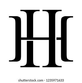 HH retro logo black white