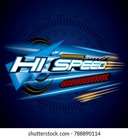 Hi Speed Concept Vecror.
