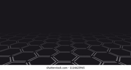Hi tech hexagonal vector background. Geometric abstract texture.