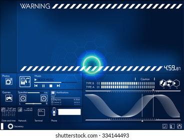 hi technology interface screen