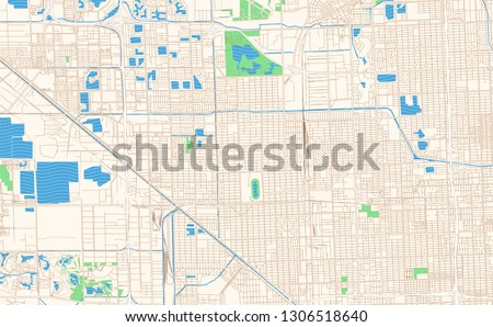 picture about Printable Florida Map called Hialeah Florida Printable Map Excerpt This Inventory Vector