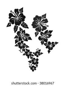 Hibiscus floral design