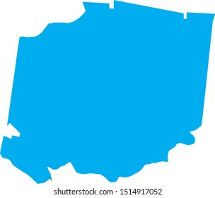 hickman County map in Tennessee state