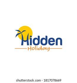 Hidden holiday / picnic / travel logo templates