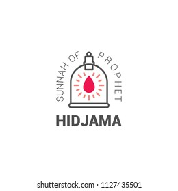 Hidjama jar, logo for hadjam - person who does bloodletting