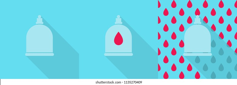 Hidjama jar, logo /sign/ avatar for hadjam - person who does bloodletting