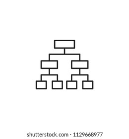Hierarchical structure icon isolated on white background. Diagram symbol modern, simple, vector, icon for website design, mobile app, ui. Vector Illustration