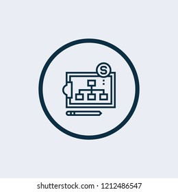 Hierarchical structure icon. Vector illustration