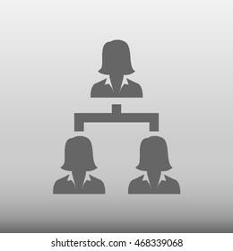 Hierarchy Businesswoman Vector Icon Illustration