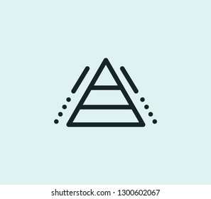Hierarchy icon line isolated on clean background. Hierarchy icon concept drawing icon line in modern style. Vector illustration for your web mobile logo app UI design.