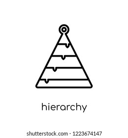 Hierarchy icon. Trendy modern flat linear vector Hierarchy icon on white background from thin line Business and analytics collection, editable outline stroke vector illustration