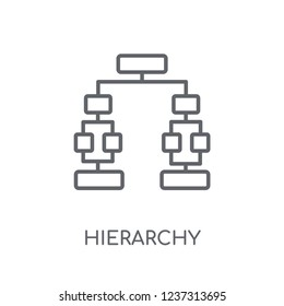 Hierarchy linear icon. Modern outline Hierarchy logo concept on white background from Business and analytics collection. Suitable for use on web apps, mobile apps and print media.