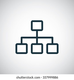 hierarchy outline, thin, flat, digital icon for web and mobile