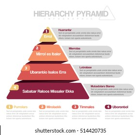 hierarchy pyramid infographic