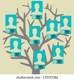 Hierarchy tree of the company staff, or can be used as simplified family tree.