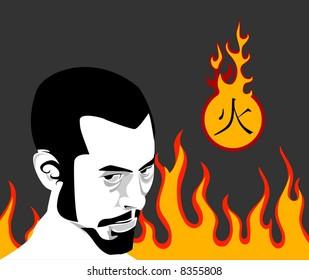 hieroglyph - fire