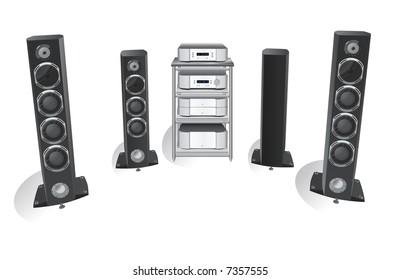hi-fi music 3 vector