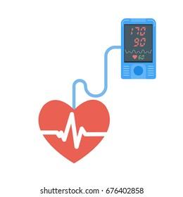 High blood pressure concept. Tonometr vector illustration