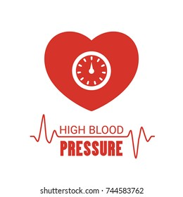 High blood pressure icon. Vector illustration on a white background.