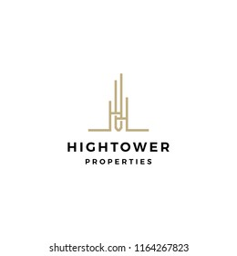 high building tower logo vector icon illustration