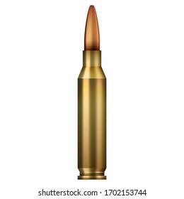 high caliber bullet in full color