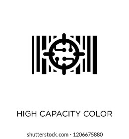 High capacity color barcode icon. High capacity color barcode symbol design from Artificial Intellegence collection.